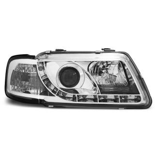 Koplampen met LED Dagrijverlichting AUDI A3 8L - Chroom