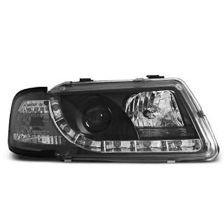 Koplampen met LED Dagrijverlichting AUDI A3 8L - Zwart