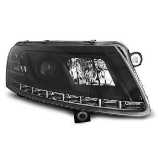 Koplampen met LED Dagrijverlichting AUDI A6 4F/C6 - Zwart