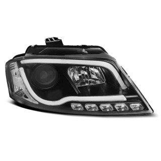 Koplampen met LED Dagrijverlichting AUDI A3 8P - Zwart