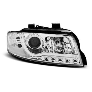 Koplampen met LED Dagrijverlichting AUDI A4 8E/B6- Chroom