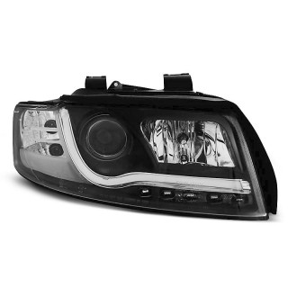 Koplampen met LED Dagrijverlichting AUDI A4 8E/B6- Zwart