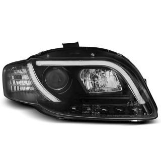 Koplampen met LED Dagrijverlichting AUDI A4 B7- Zwart