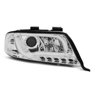 Koplampen met LED Dagrijverlichting AUDI A6 C5 - Chroom