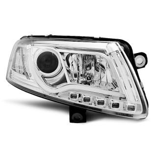 Koplampen met LED Dagrijverlichting AUDI A6 4F/C6 - Chroom