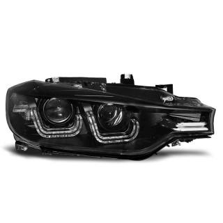 Koplampen met LED Dagrijverlichting Bmw 3-Serie F30, F31 - Zwart