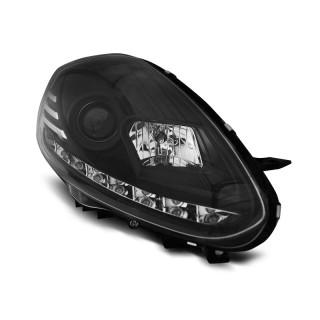 Koplampen met LED Dagrijverlichting FIAT PUNTO EVO - Zwart