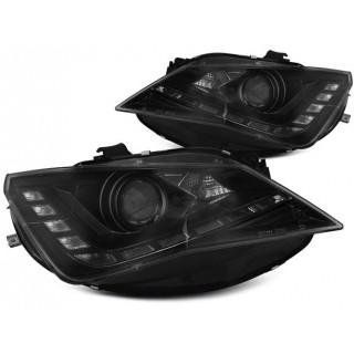 Koplampen met LED Dagrijverlichting SEAT SEAT IBIZA 6J  - Zwart