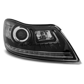 Koplampen met LED Dagrijverlichting SKODA OCTAVIA - Zwart