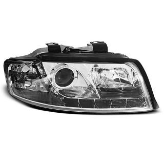 Koplampen met LED verlichting AUDI A4 8E/B6  - Chroom