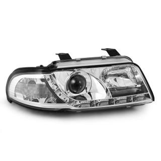 Koplampen met LED verlichting AUDI A4  - Chroom
