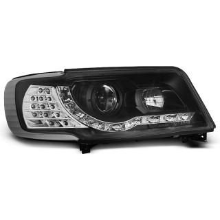 Koplampen met LED verlichting AUDI 100 C4  - Zwart