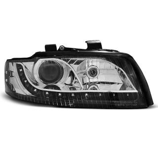 Koplampen met LED verlichting AUDI A4 8E/B6  - Zwart