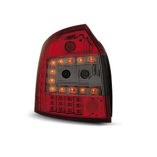 LED Achterlichten AUDI A4 8E/B6  AVANT - Rood/Smoke