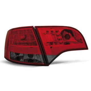 LED Achterlichten AUDI A4 B7  AVANT - Rood/Smoke
