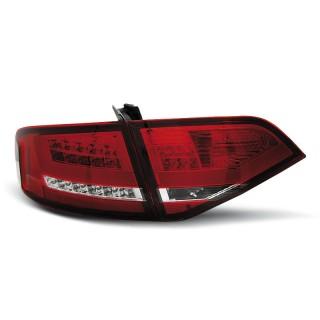 LED Achterlichten AUDI A4 B8  SEDAN - Rood/Wit