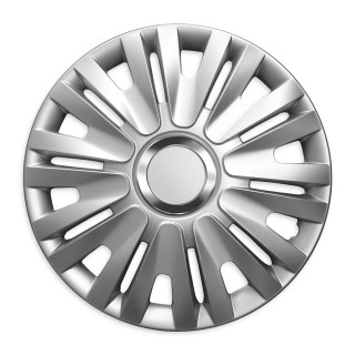Wieldoppen Pepper zilver 16 inch - 4 stuks
