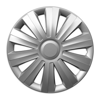 Wieldoppen Stix zilver 13 inch - 4 stuks