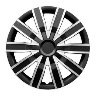 Wieldoppen Voodoo zilver zwart 16 inch - 4 stuks