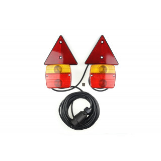 7-Polige magnetische aanhanger verlichting incl. bekabeling en reflectoren