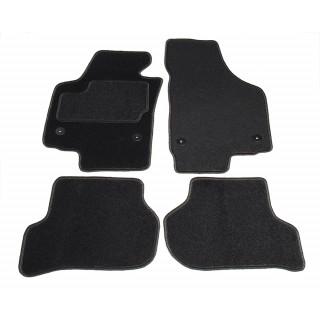 Automatten op maat - zwart stof - Seat Leon 1P1 2008-2012