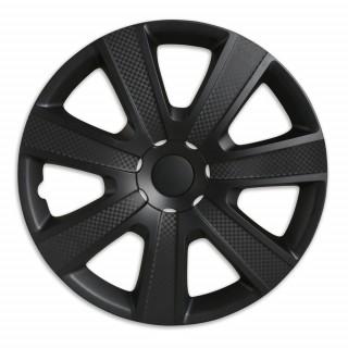 Wieldoppen Carbon Zwart 14 inch - Set van 4