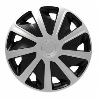 Wieldoppen Craft Zwart & Zilver 15 inch (bolle velgen) bedrijfswagen - 4 stuks