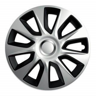 Wieldoppen Stratos Zwart & Zilver 16 inch - 4 stuks