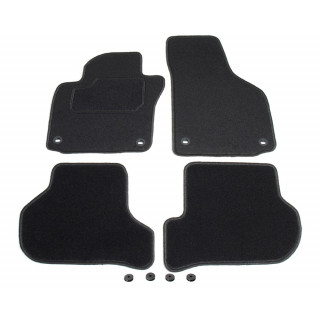 Automatten op maat - zwart stof - Volkswagen Golf 5 hatchback / station