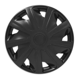 Wieldoppen Craft Zwart 15 inch (bolle velgen) bedrijfswagen - 4 stuks