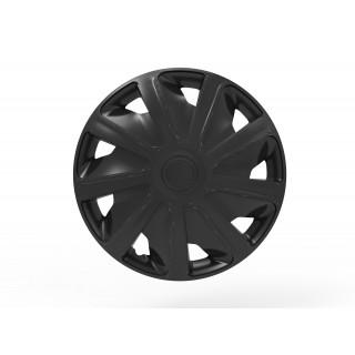 Wieldoppen Craft Zwart 16 inch (bolle velgen) bedrijfswagen - 4 stuks