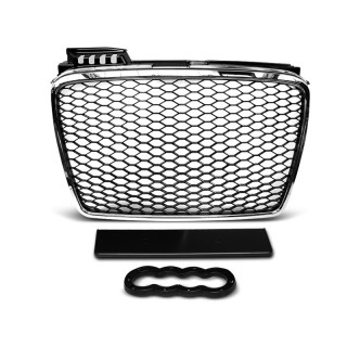 RS-Look Embleemloze grille AUDI A4 (B7)   - Chroom