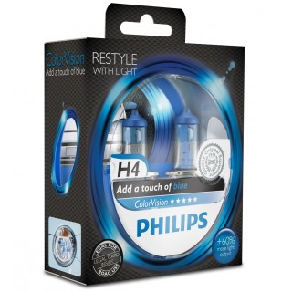 Philips H4 12V 60/55W ColorVision Blauw
