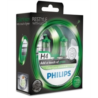 Philips H4 12V 60/55W ColorVision Groen