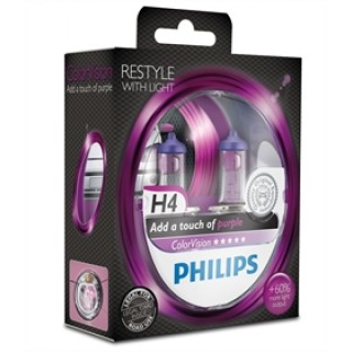 Philips H4 12V 60/55W ColorVision Paars