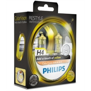 Philips H4 12V 60/55W ColorVision Geel