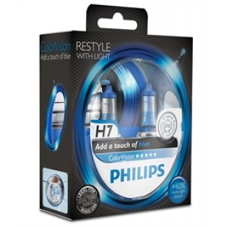 Philips H7 12V/55W ColorVision Blauw