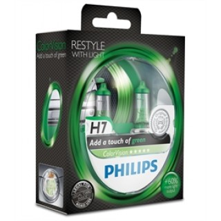 Philips H7 12V/55W ColorVision Groen