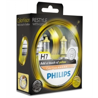 Philips H7 12V/55W ColorVision Geel