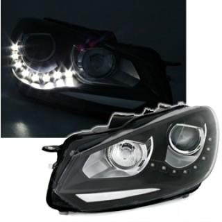 Koplampen met LED Dagrijverlichting VW GOLF 6 - Zwart