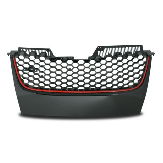 JOM Embleemloze grill Vw Golf 5 03-08 Zwart/Rood
