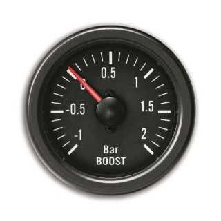 Turbodruk meter - Youngtimer Black