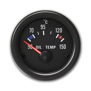 Olietemperatuur meter (50~150°C) - Youngtimer Zwart
