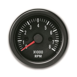 Toerenteller, 0~8.000RPM - Youngtimer Black