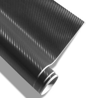 3D Carbon Wrapfolie - Zwart