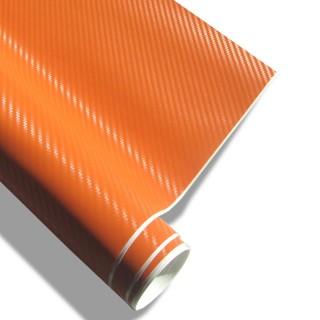 3D Carbon Wrapfolie - Oranje