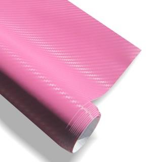 3D Carbon Wrapfolie - Roze