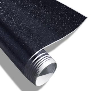 Wrapfolie - Zwart met diamant glitter effect