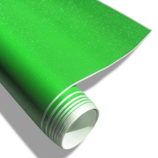 Wrapfolie - Groen met diamant glitter effect