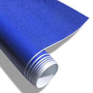 Wrapfolie - Blauw met diamant glitter effect